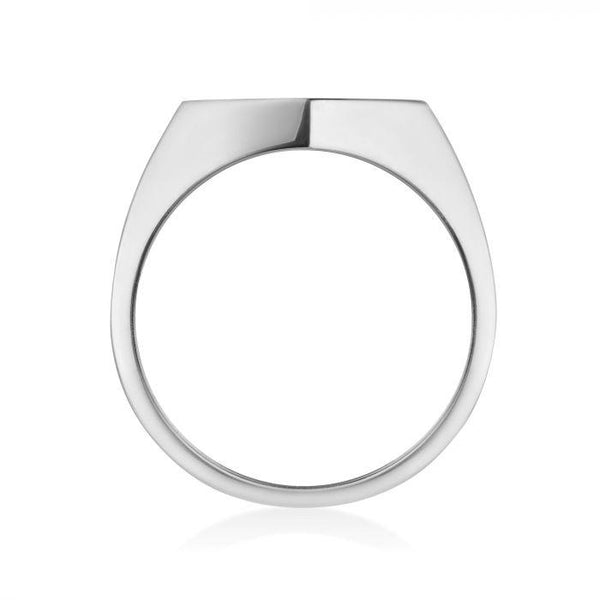 Birks - Silver Hexagon Signet Ring, Ring