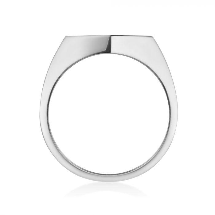 Birks Silver Hexagon Signet Ring Ring