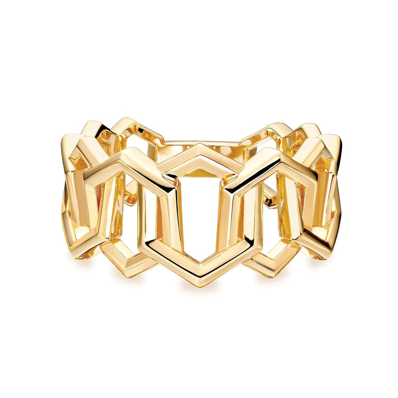 Birks Yellow Gold Link Ring-7 Ring