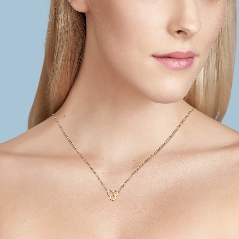 Birks Yellow Gold Hexagons Pendant Pendant