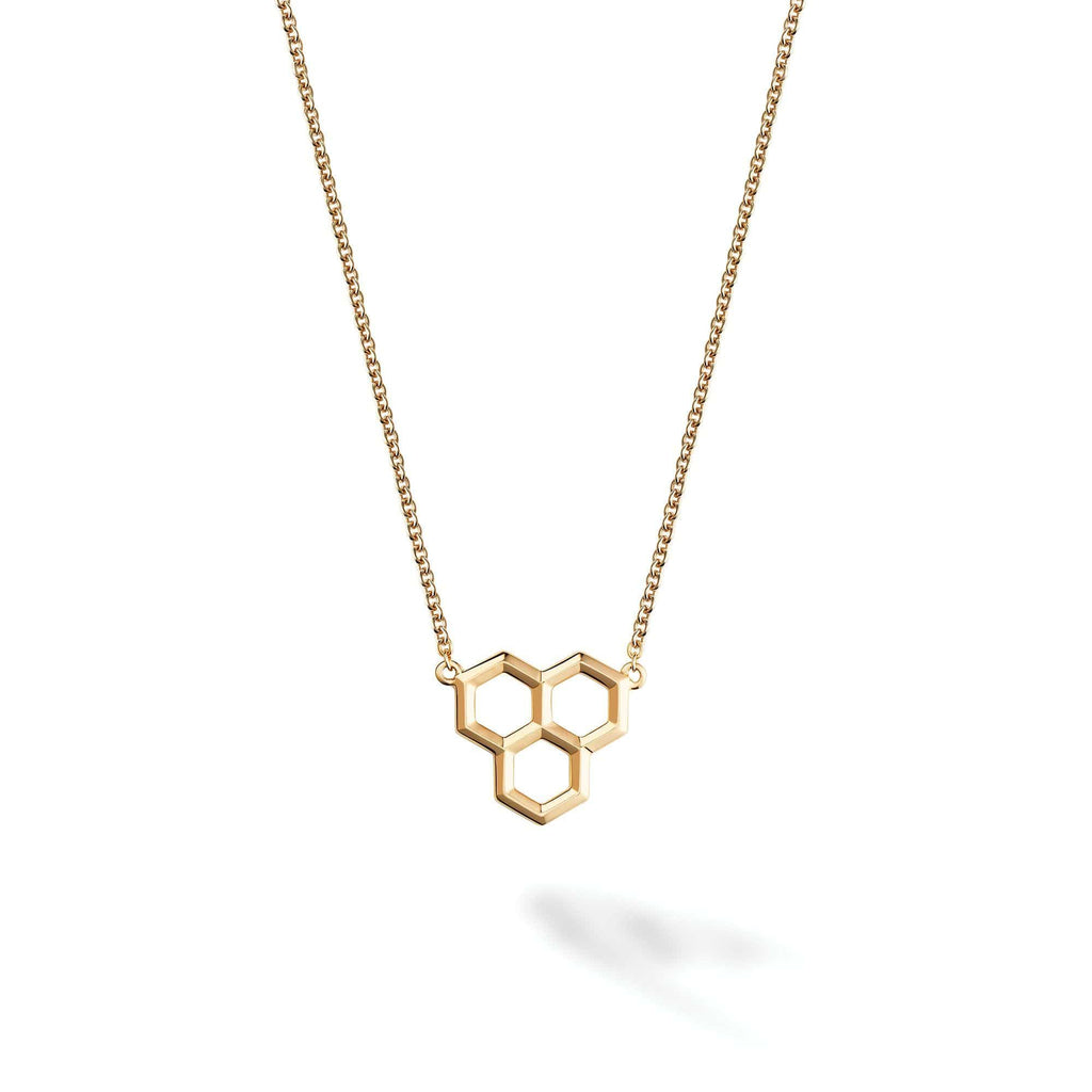 Birks - Yellow Gold Hexagons Pendant, Pendant