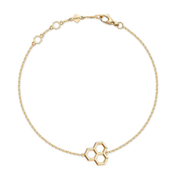 Birks Bee Chic Yellow Gold Hexagons Bracelet Womens Bracelets