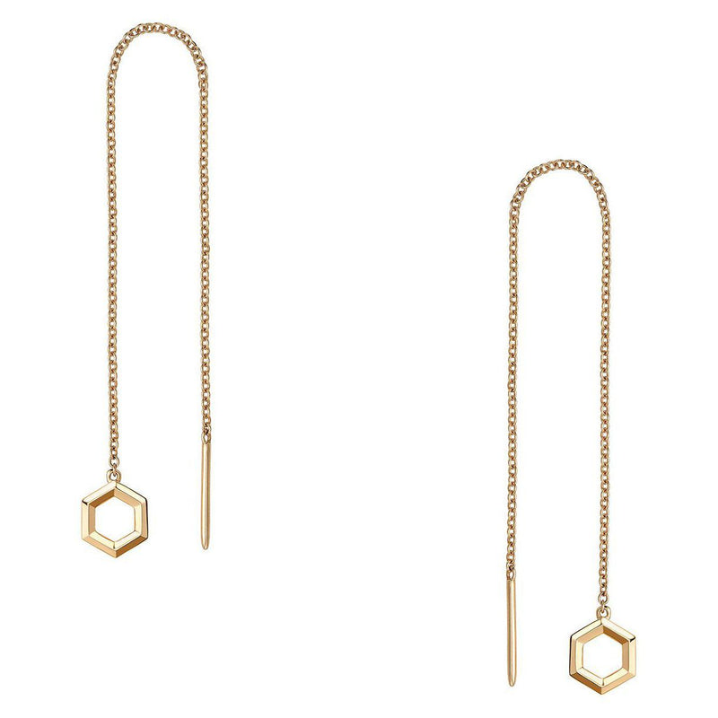Birks Yellow Gold Toggle Chain Earrings Earrings