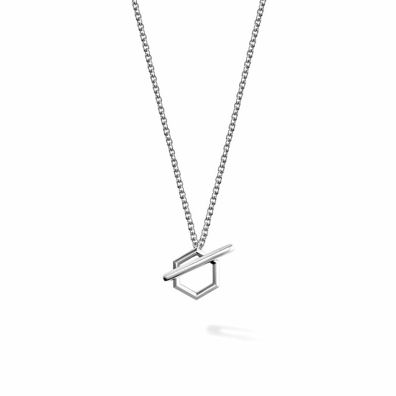 Birks - Bee Chic Silver Toggle Necklace, Necklace