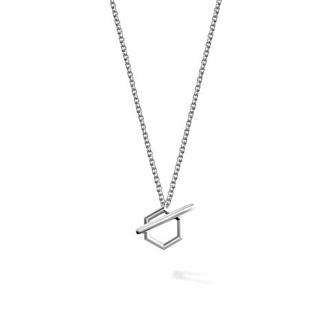 Bee Chic Silver Toggle Necklace