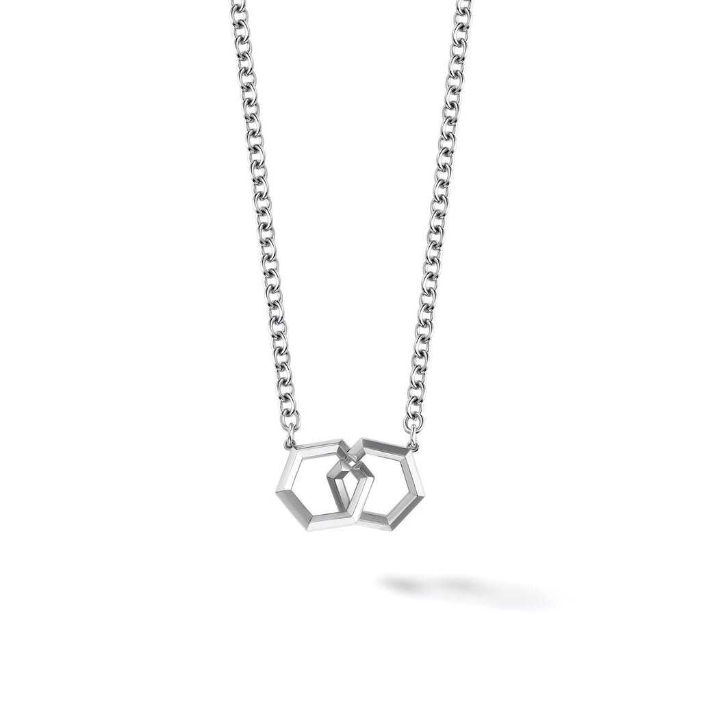 Birks - Bee Chic Silver Interlocking Pendant, Necklace