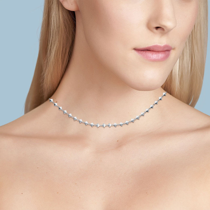 Birks - Iconic Silver Rock & Pearl Choker Necklace, Necklace