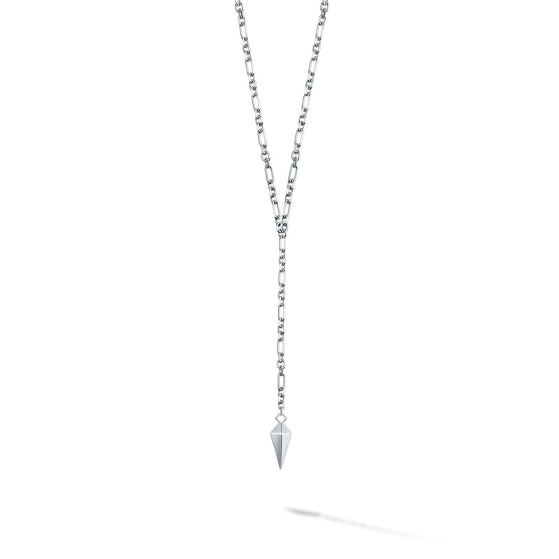 Birks Iconic Silver Rock & Pearl Lariat Necklace Necklace