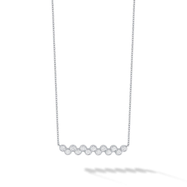 Birks - Iconic White Gold and Diamond Splash Bar Necklace, Necklace