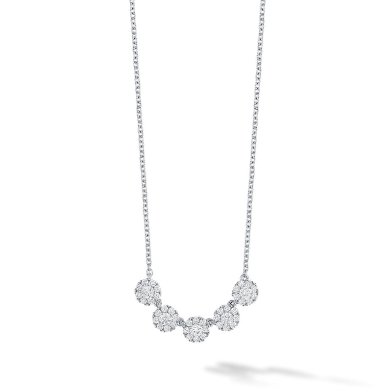 Birks White Gold and Diamond Snowflake Necklace Necklace