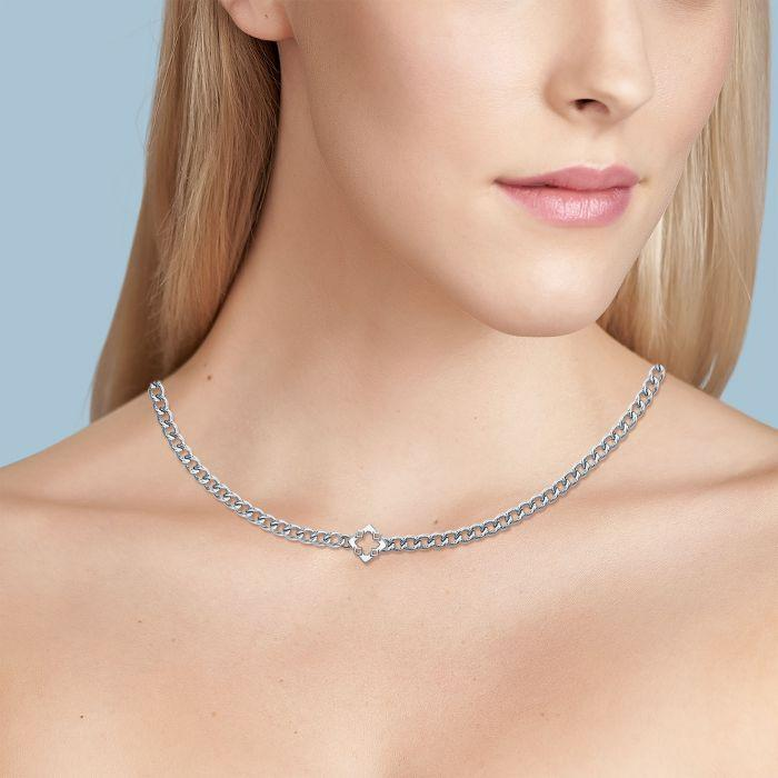 Birks - Iconic Silver Muse Choker Necklace, Necklace