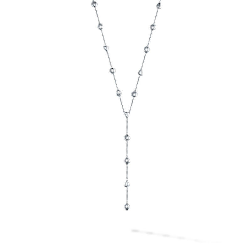 Birks Iconic Silver Pebble Lariat Necklace Necklace