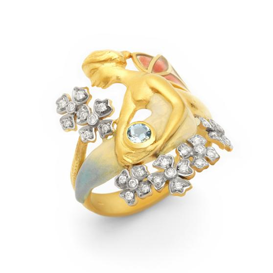 Masriera - Diamond Flower Ring, Ring