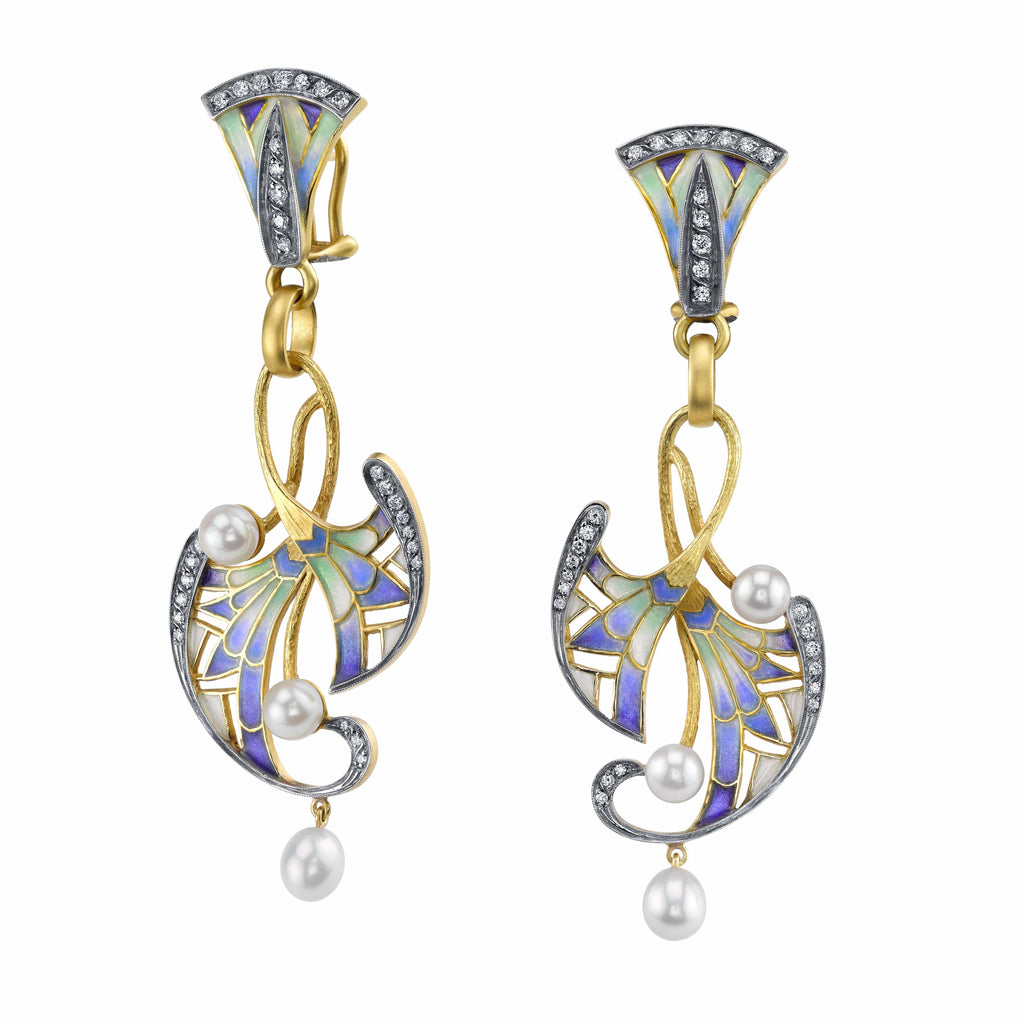 Masriera - plique a jour fauna earrings, Earrings