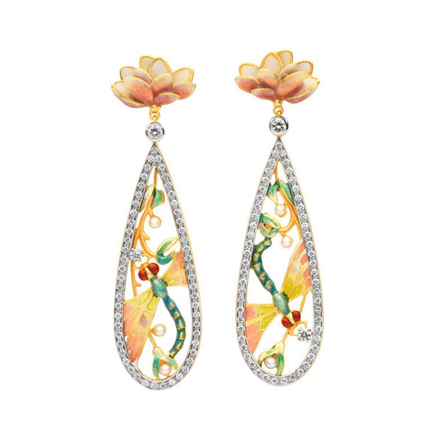 Masriera - Masriera Dragonfly Tears earrings, Earrings