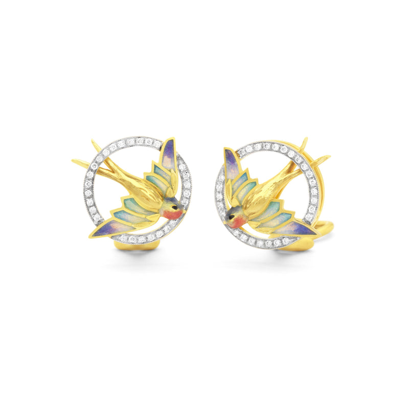 Masriera Round Hummingbird earrings Earrings