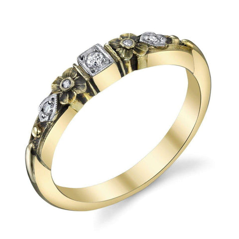 '457' Diamond Floral Band