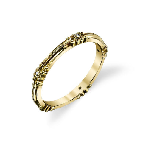 '810' Flower & Scroll Eternity Band