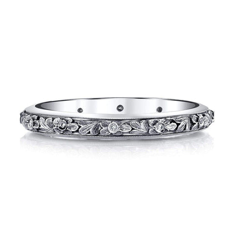 '817' Diamond Floral Band