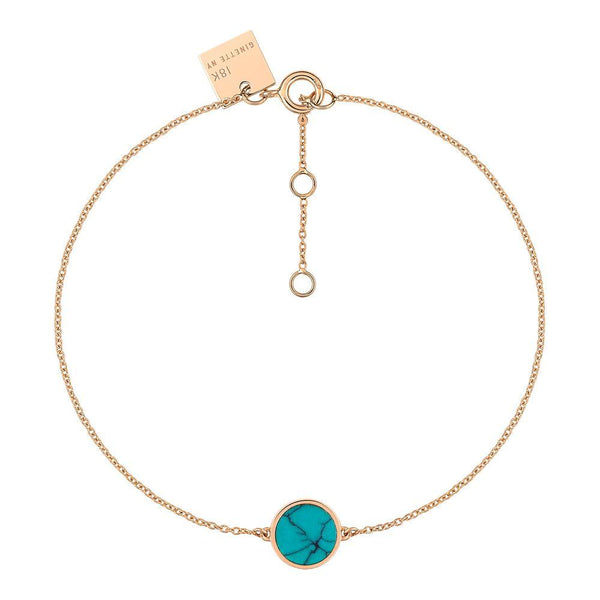 Ginette MINI EVER TURQUOISE DISC BRACELET Womens Bracelets