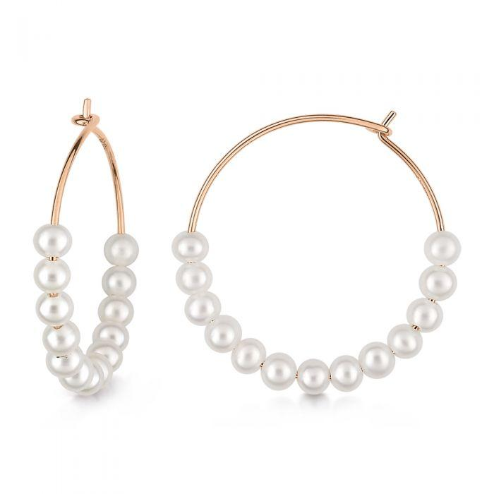 Ginette - MARIA PEARL HOOPS, Earrings