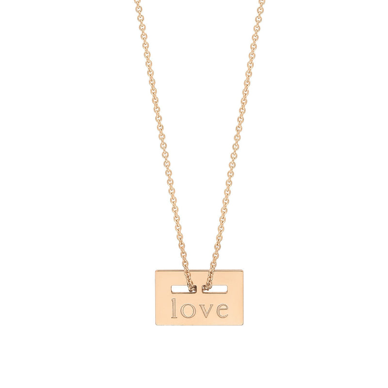 "Ginette - mini plate ""love""on chain, Pendant"