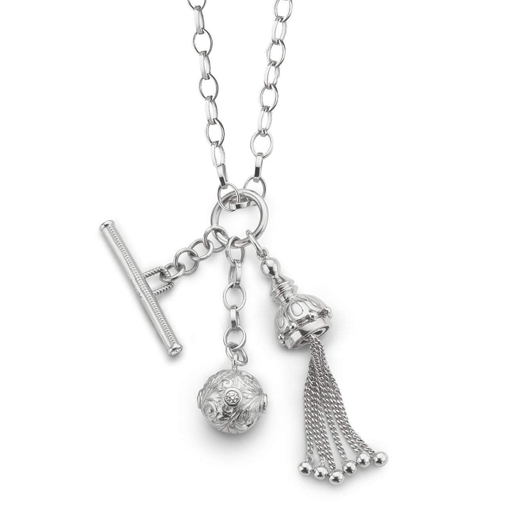 Monica Rich Kosann - Tassel, Toggle and Ball Charm Necklace, Pendant
