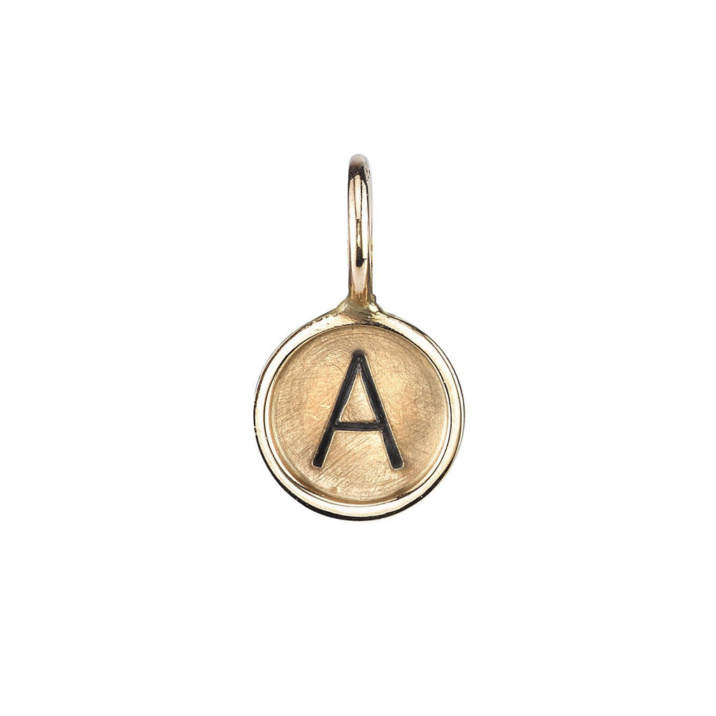 "Gold ""A"" Initial Charm"