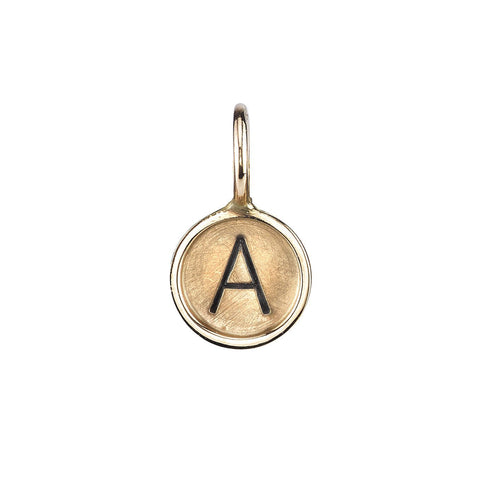 Heather B. Moore - Gold A Initial Charm, Charm