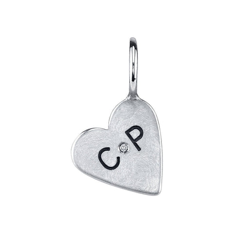Heather B. Moore - Custom Initial Heart Charm, Charm