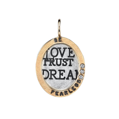 "Heather B. Moore ""Be Fearless"" Charm Charm"
