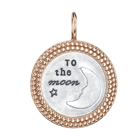 "White Gold ""To the Moon and Back"" Charm"