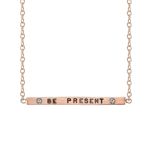 "Heather B. Moore ""Be Present"" Charm Necklace"