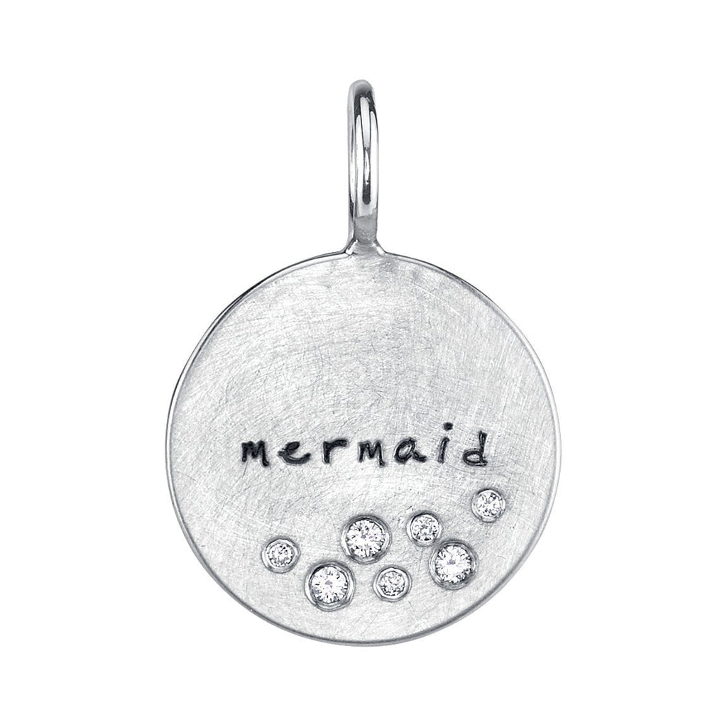 "White Gold ""Mermaid"" Charm"