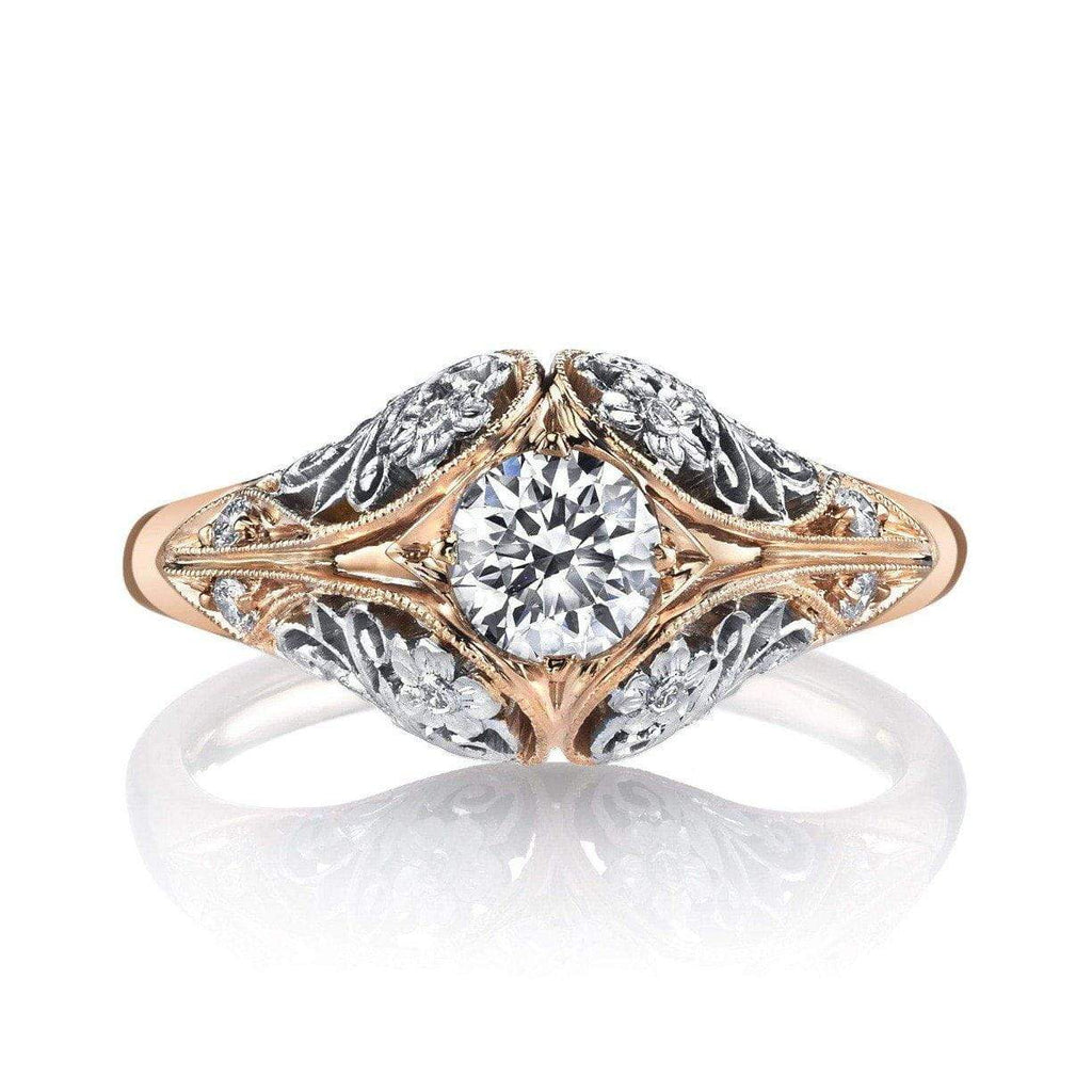 '1004' Floral Engagement Ring