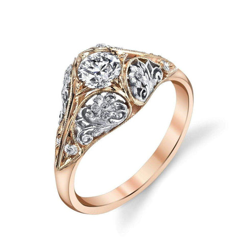 Van Craeynest '1004' Floral Engagement Ring Engagement Ring