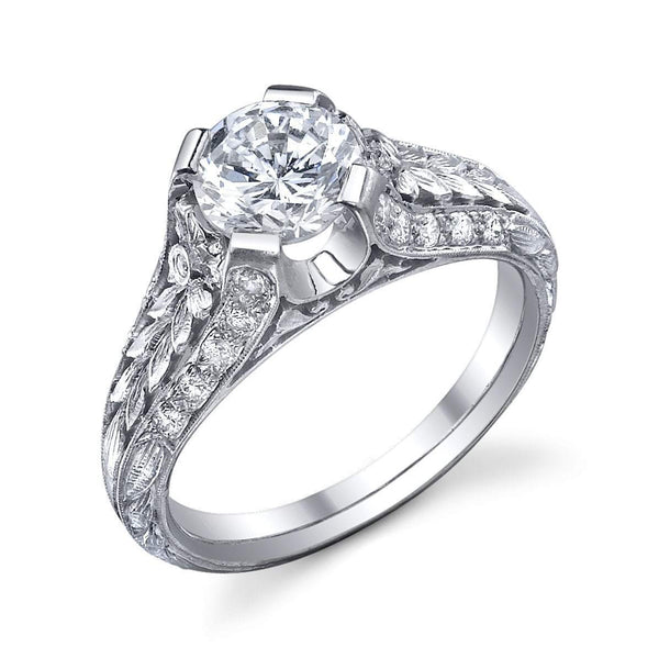 Van Craeynest E.1024 Semi Mount Engagement Ring Semi Mount