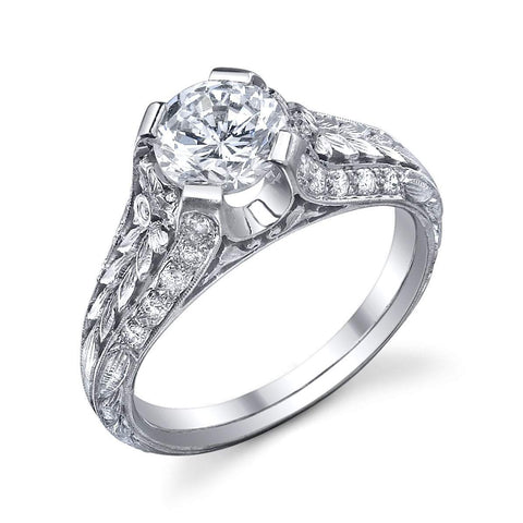 '1024' Floral Engagement Ring