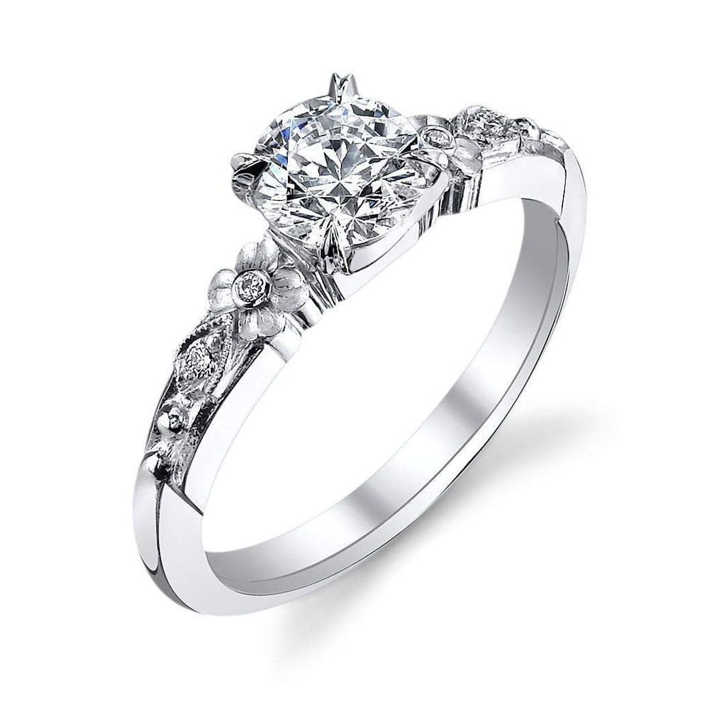 457' Floral Engagement Ring