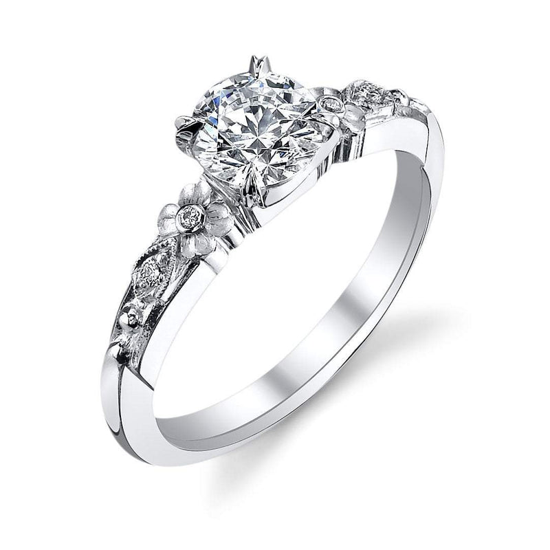 Van Craeynest - 457' Floral Engagement Ring Platinum, Engagement Ring