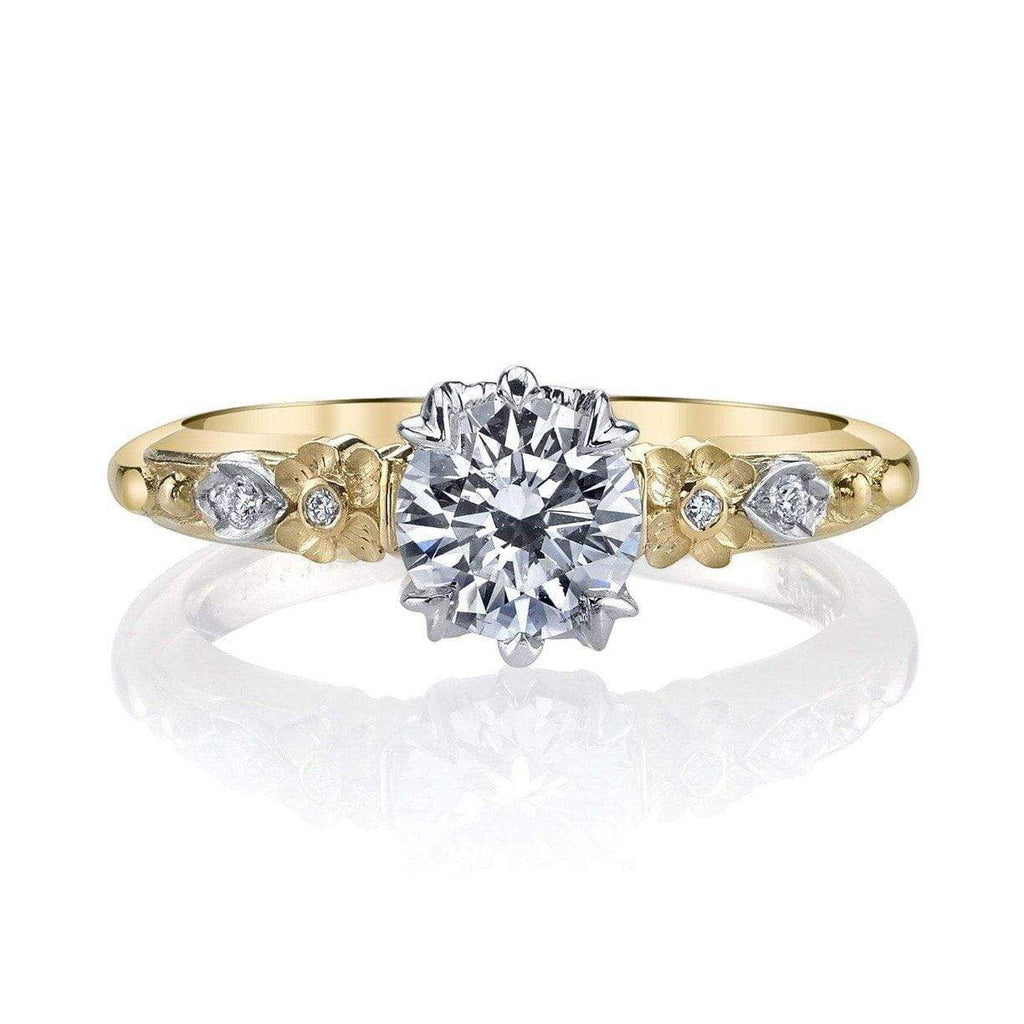 Van Craeynest - 457' Floral Engagement Ring 18K YG, Engagement Ring