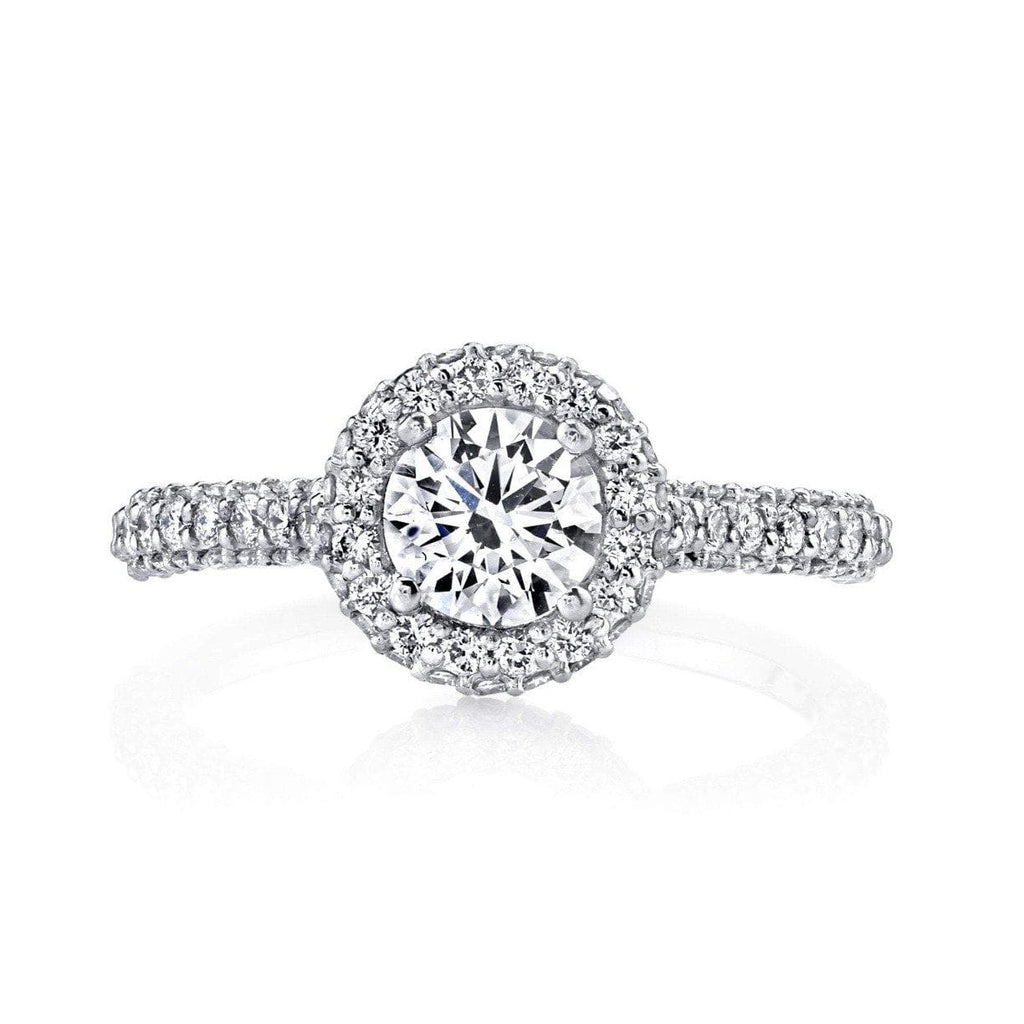 Emerson & Farrar - Halo Diamond Engagement Ring PT, Engagement Ring
