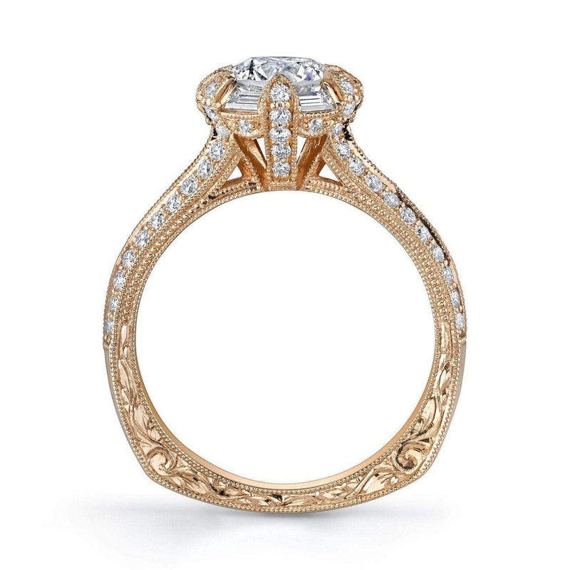 Emerson & Farrar - 18K Rose Gold Halo Engagement Ring, Engagement Ring