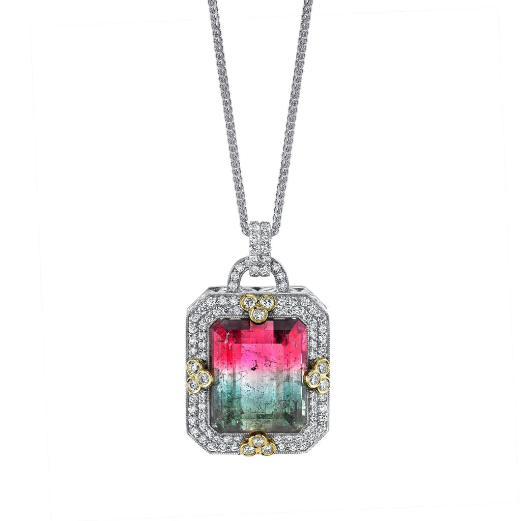 Watermelon Tourmaline Pendant