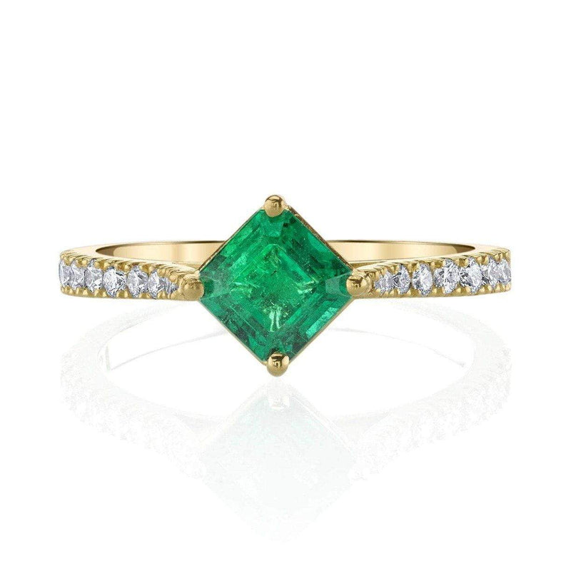 Emerson & Farrar - Asscher Cut Emerald Ring, Ring