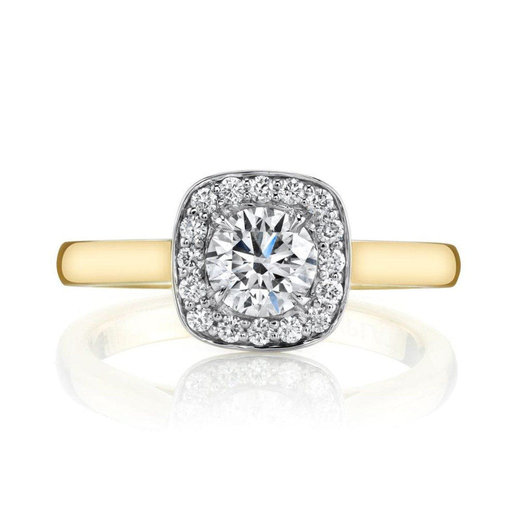 Emerson Fine Jewelry Diamond halo engagement ring 18K YG 0.57ct Engagement Ring