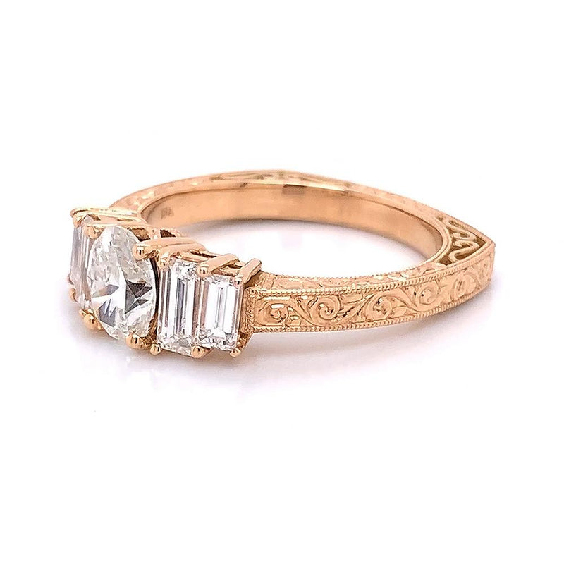 Emerson & Farrar Gustaf Collection Oval Cut Ring Engagement Ring