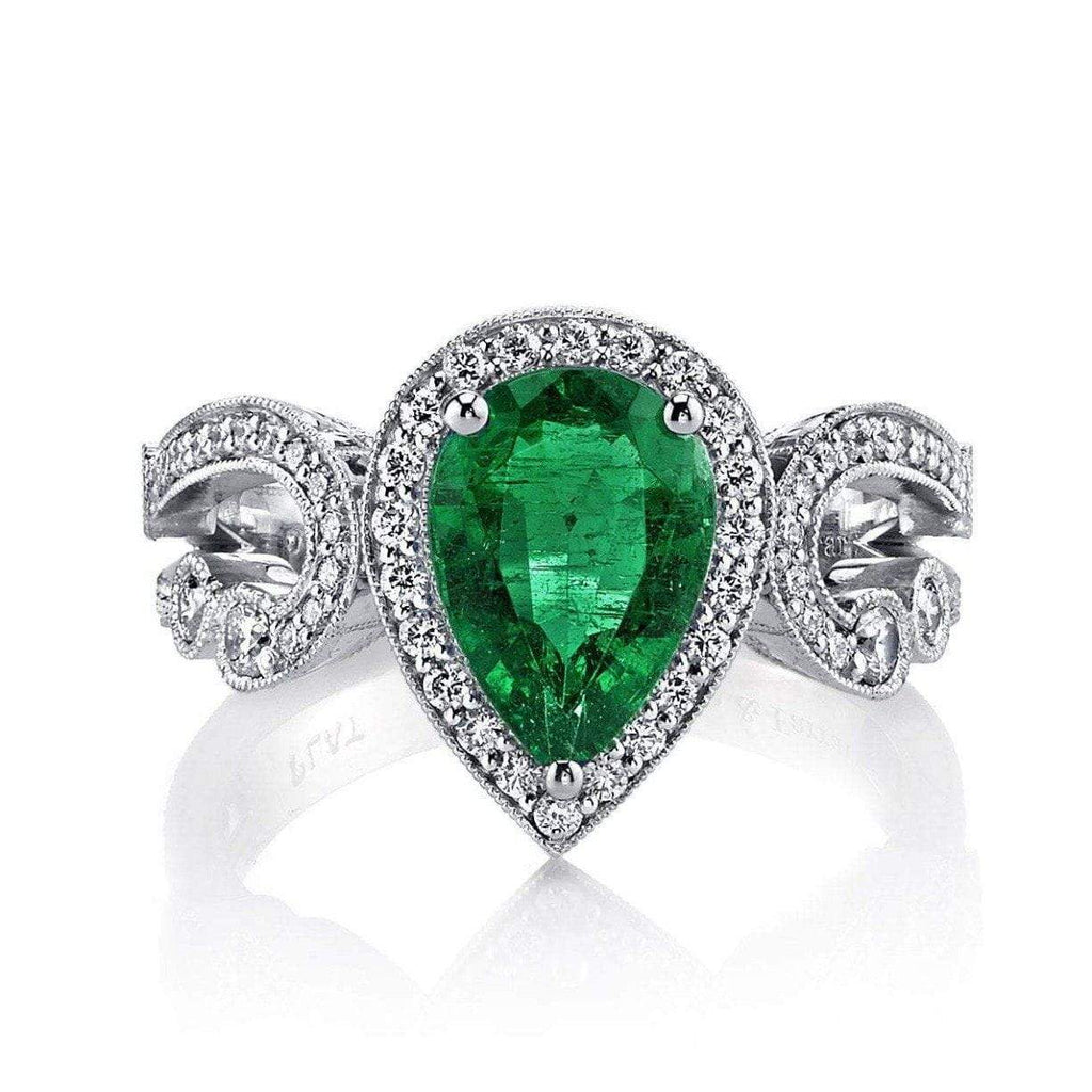 Emerson & Farrar - Emerald Pear Shaped Engagement Ring, Ring