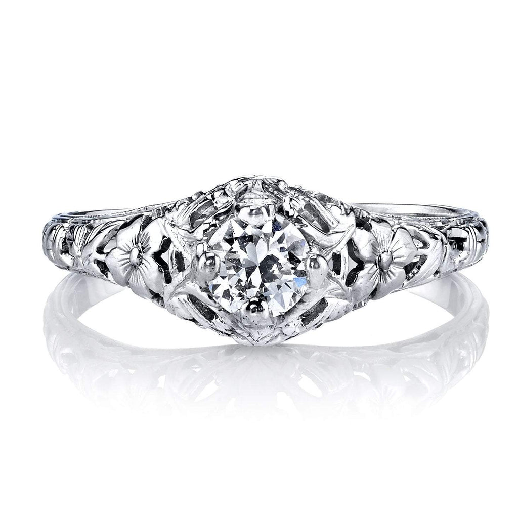 Estate Collection - Estate Filagree Engagement Ring, Engagement Ring