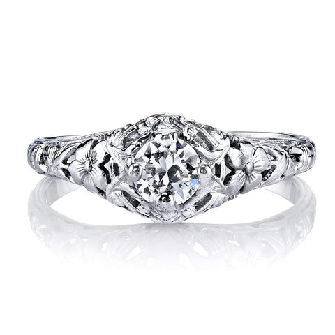 Estate Filagree Engagement Ring